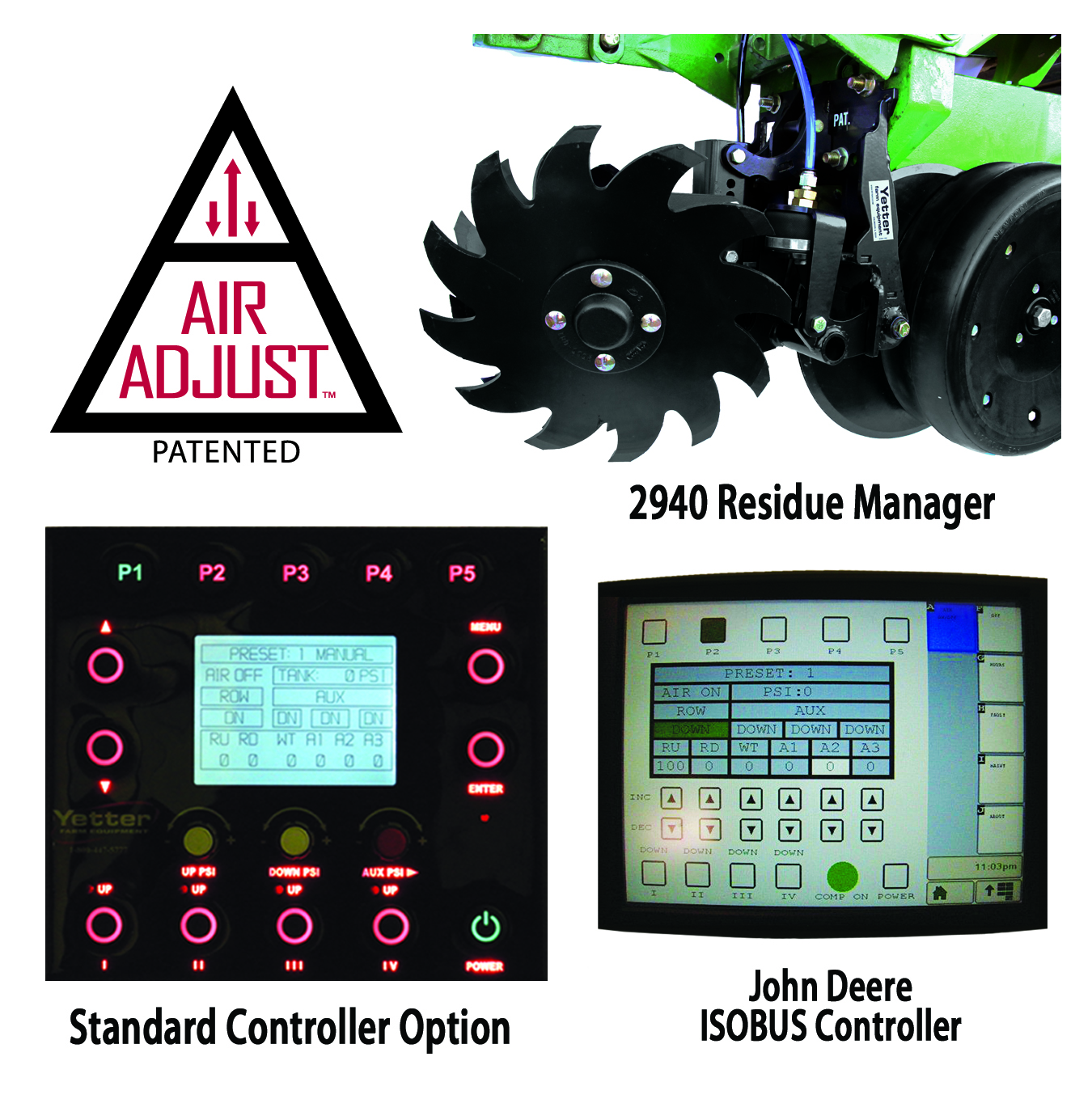 Yetter 2940 Air Adjust Series